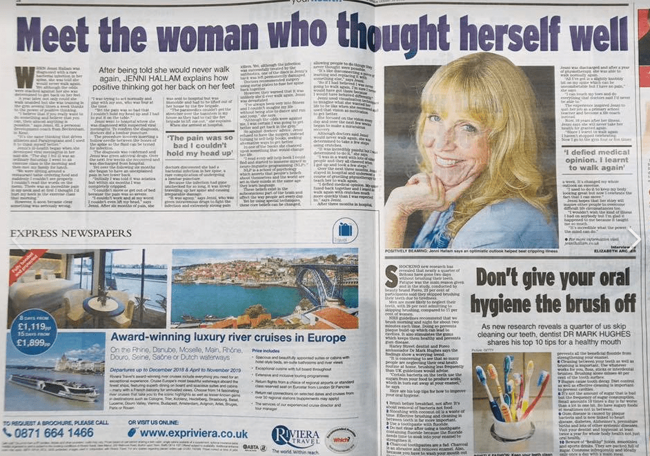 How NLP practitioner got DOUBLE PAGE spread in a national newspaper
