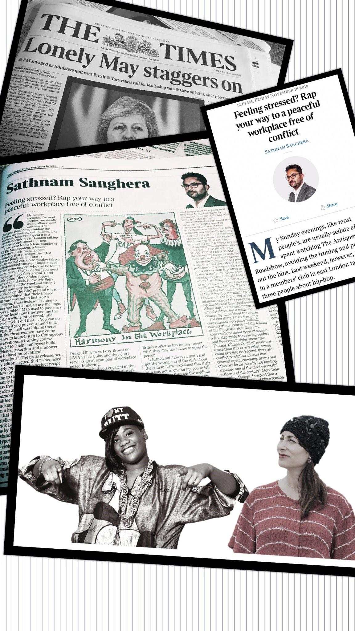 rapper makes the press!